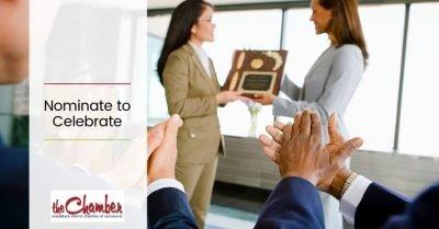 Women receiving business award