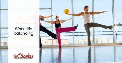 women balancing - showing work life balance