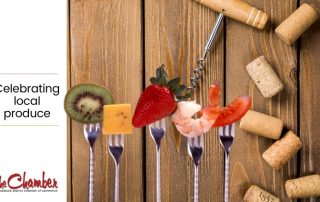 Forks with food and corks